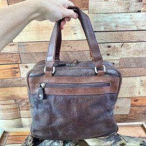 ROOTS Vintage hand/make up bag w beautiful PATINA